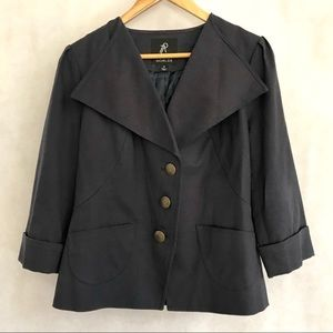 NEW Rachel Zoe French Navy Jacket Coat M Button